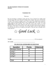 Stat104 Fall 2014 Exam 1