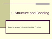 lecture 1 - structure and bonding