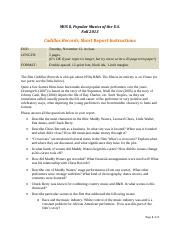 MUS 8, Cadillac Records report instructions
