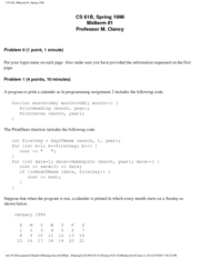 Computer Science 61B - Spring 1996 - Clancy - Midterm 1