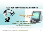 Part2_EPC431_Robotic-Kinematic_Modeling