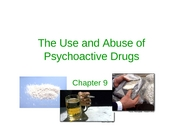 Psychoactive Drugs - notes