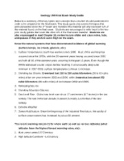 GEOL 150  Final Exam Study Guide