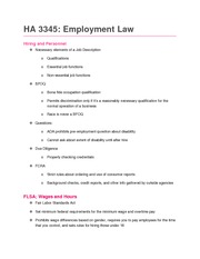 Employment Law Notes