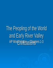 AP World History Chapters 1-3 PowerPoint.ppt