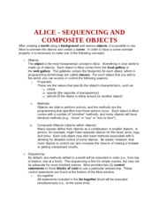 ALICE - SEQUENCING AND COMPOSITE OBJECTS