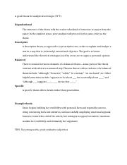 Thesis Statement Guidelines
