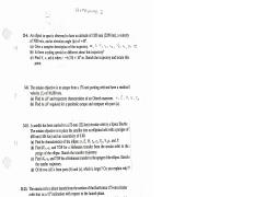 Orbital Mechanics Homework Set 2