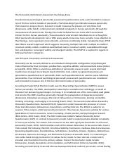 The Personality And Interest Assessment Psychology Essay.docx