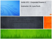 ActSc371_Lecture 18_Chapter 8  (Ross) -