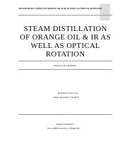 Steam Distilliation of Orange Oil and IR_Optical Rotation.docx