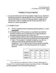 15. Predatory Pricing - Model Intuition