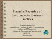 Goodwill recording of sustainable business practices