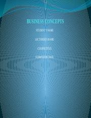 BUSINESS CONCEPTS
