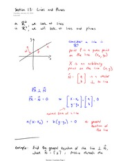 Math 2730 Planes Notes