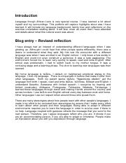 final portfolio pdf introduction language though african lens is