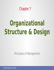Ch.7 Organizational Structure & Design - Copy - Copy.pptx