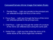 MIRROR & LENS IMAGE FORMATION RULES