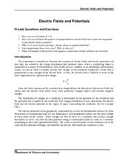 E-Fields and Potential