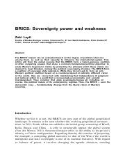 2012-zaki-brics-sovereignty-power-and-weakness-vauteur