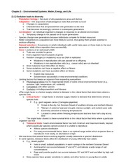 ENV200 Chapter 3 Notes