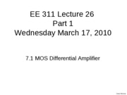 Lecture 26 BB 7.1 MOSDiffAmpRevised