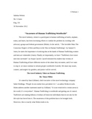 human trafficking scholarly articles