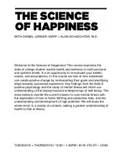 Spring 17 Science of Happiness Syllabus