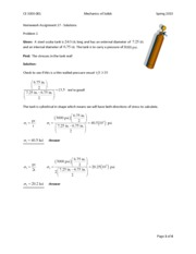 HW #17 Solutions