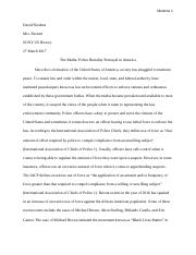SUNY Research Paper - Media and Police Brutality (1).docx