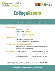 College Savers Orientations Flyer_Fall 2016_v2.pdf