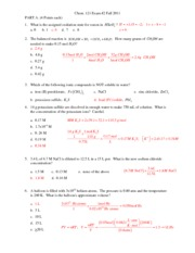 Chem Common 2 Answers