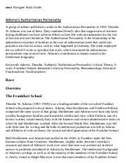 Adorno's Authoritarian Personality Research Paper Starter - eNotes.pdf