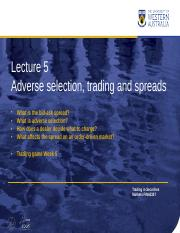 WK 05 Adverse Selection Trading and Spread LMS.pptx