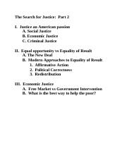 The Search for Justice outline (pt. 2)
