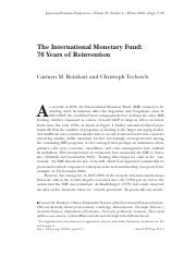 FIN4651 Module8 Reading -The International Monetary Fund-  70 Years of Reinvention.pdf