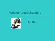 Writing About Literature PPt.