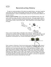 "Module 8 Learning Activity_D-13 ""Reconstructing History"".docx"