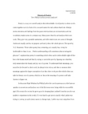 Poetry Analysis Essay