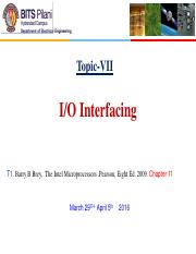 10.CS EEE F241 IO INTERFACING 5th april for TEST 2