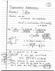 Trig Substitutions (Lecture 4)