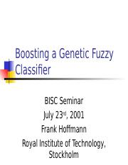 Boosting a Genetic Fuzzy Classifier.ppt