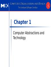Chapter 1 Computer Abstractions and Technology(1)