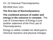 Chemistry - Chapter 15