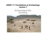 Lecture 07 Archaeological Surveying
