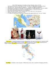 Class #6  Beginning of viniculture 29 January 2015 CHEM 120 SCIENCE and WINE