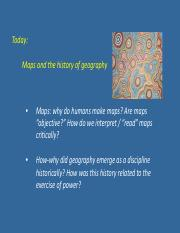 Week 1 day 2 maps & history geography