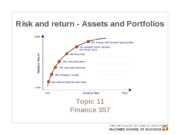 Chapter 10. Risk and return - Assets and portfolios