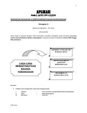 Cara Memartabatkan Bahasa Kebangsaan Pdf 1 Aplikasi Modul Gateh Spm Csl2014 Karangan Bahagian A Berdasarkan Bahan Rangsangan Bahagian A Masa Course Hero