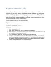Assignment information